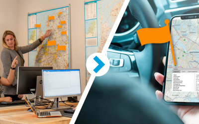Altijd en overal professionals matchen met online GeoApps kaart