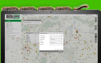 Race tegen de rupsen: Roelofs bestrijdt eikenprocessierups middels kaart